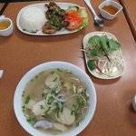 Lemon grass chicken & pho soup