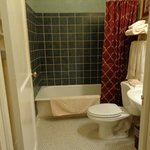 bathroom - older but in good condition & clean