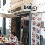 Outdoor view of cafe Escadinha