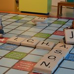 Giant scrabble board! My favorite!