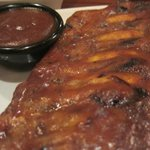 A Full rack of Baby Back Ribs & Sauce