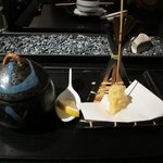 9-course - chawanmushi and lobster tempura