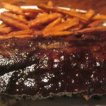 Baby Back Ribs With Sweet Potato Fries.