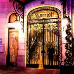 Paris Marriott entrance
