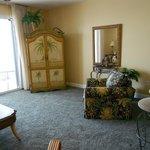 Living area room 606