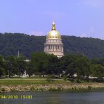 WV State Capitol view from across the Kanawha River