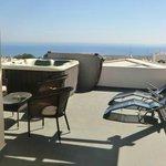terrazzo privato con jacuzzi