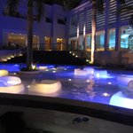 Pool Area at Night Time
