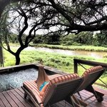 Our 180 degree view form our suite of the Sabie River
