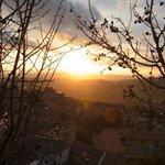 View over Massa at sunset