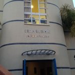 look out for this building once on Rue Ahmed Chaouki - the h