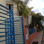 look for the blue railings to find the hammam