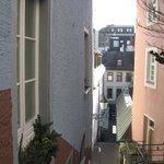 vue sur Baden depuis la rue de l'hôtel