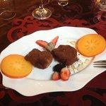 Sfinci covered with cocoa .... divine dessert!