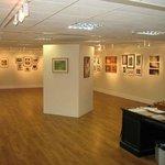 The upper floor gallery
