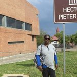 Outside the Hector Pieterson Museum in Soweto