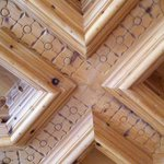 Traditional Carved Wood Ceilings in Entryway