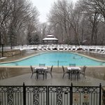 Elms new pool heated to 90 degrees New Years Eve.