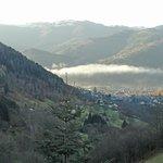 la vue sur la vallée de la Thur