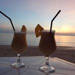 coladas at the beach