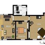 Floor Plan for Drift Wood Kottage