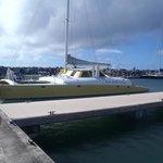 big catamaran with bathrooms