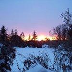 sunrise. From upstairs window