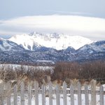 La Plata mountains from dining room table.