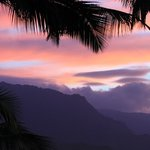 sunset overlooking Hanalei Bay