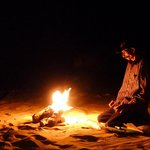 my guide making a campfire
