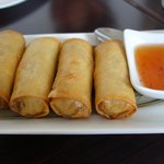 Spring Rolls were hot, crunchy and delicious.