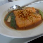 Salmon in Tamarind Sauce-Fish was cooked just right, but wasn´t served hot enough.