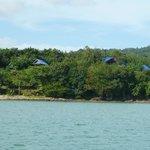 Resort vom Meer aus