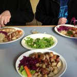 Sausage Platters with sauerkrat and cabbage