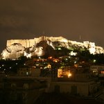 View of the Acropolis from hotel restuarant