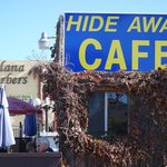 View of the Hide Away Cafe