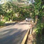 Street in ressort (street between bugallows)