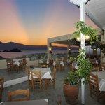 amazing sunset at Kontos restaurant in Mikri Vigla