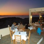 enjoy your dinner with view to the sunset