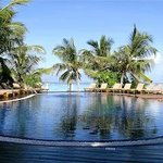 Beautiful swimming pool right by the beach