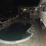 pool @night from outside room #17