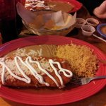 Chimichanga...dinner for two!