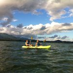 Kayaking around Monkey Island