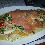 Smoked salmon pasta special