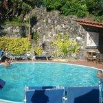 piscina riscaldata su terrazza
