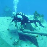 wreck diving on the Russian frigate