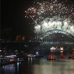 Fireworks from Sydney Harbor Bridge