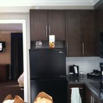 look at how the fridge sits unlevel, however the ceiling is also crooked hiding it.
