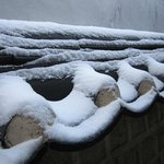Lovely sight to behold! Snow on a clay roof!