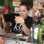 Friendly staff offering Free tasting @ KI Spirits